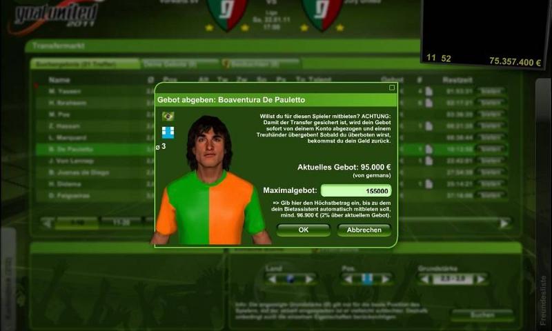 Goalunited 2012 Screenshot 1