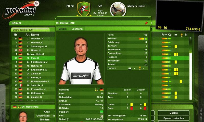 Goalunited 2012 Screenshot 2